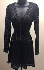 "BCBG MAXAZRIA ""Kinley"" Striped Mesh Dress Sz XS NWT $248"