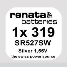 1x Renata 319 Uhren-Batterie Knopfzelle SR527SW Silberoxid Blisterware Neu