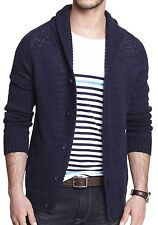 New EXPRESS Mens Linen Cotton Ribbed Shawl Cardigan Sweater, nwt, XL, $110 *LAST