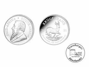 Südafrika 1 oz 999 Silber / AG  Krügerrand 2021 *ST* Anlage Münze