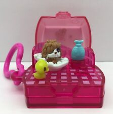 Littlest Pet Shop Tiniest Keychain Bath Time Playset W/ Dog Hasbro Toy Lps Clip