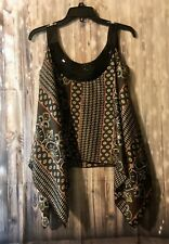 Mon Ami Womens Flowy Sleeveless Tank Top Shirt Size M 100% Polyester