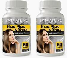 2 Crecimiento Cabello Piel Uñas Saludables Piel Joven Arrugas Pastillas más fuerte Colágeno