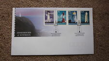 2002 LIGHTHOUSES OF AUSTRALIAN FDC, 4 STAMPS, LIGHTHOUSE PM BEACON PM