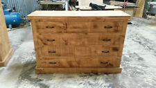 NEW SOLID RUSTIC CHUNKY LOWBOY STYLE WOODEN CHEST OF DRAWERS MADE TO MEASURE