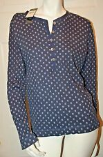Lauren Jeans Co Ralph Lauren Dark Blue Designed Henley Top Sz XL NWT $59.50