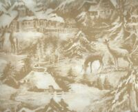 Snowy Eve wildlife scenic Moda fabric