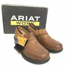 Ariat Women's Safety Clog, Golden Brown, Style 10002367 Steel Toe Slip On SH-135