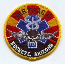 Air Evac 5 Buckeye PHI Air Medical Helicopter EMS Patch Arizona AZ Hook and Loop