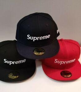 Supreme Champions Box Logo New Era Hat Cap Size 7 1/4  + 7 3/8 SS21 2021