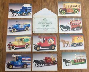 Set of 10 RDP Lledo Postcards featuring Days Gone models DG1 to DG10 Limited Ed