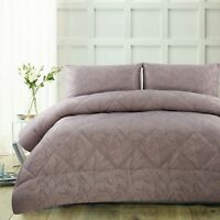 3 Piece 300TC Pippa Mauve Jacquard Comforter Set by Accessorize - QUEEN KING
