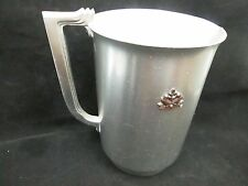 ART DECO LURELLE GUILD FOR KENSINGTON SIMPLE DESIGN PITCHER WITH BRASS DOVES