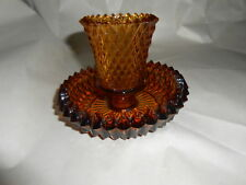 Home Interior Amber Jewelite Votive Cup and Glass Holder
