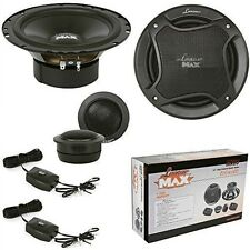 2-WAY SYSTEM BLACK SET LANZAR FROM 16,50 165 MM MX6C WOOFER TWEETER 400 WATTS