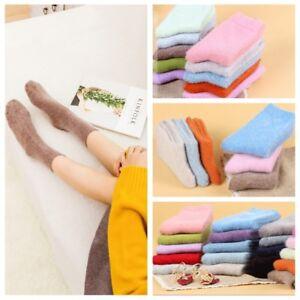 5pairs Angora Rabbit Wool Polyester Women Socks-Luxury Comfort Soft Warm Wool