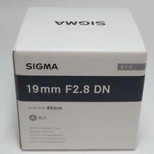 SIGMA un 19mm F2.8 DN negro para micro cuatro tercios fromJAPAN