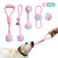5pcs/pack Braided Pet Dog Bite Chew Toys Cotton Rope Dog Training Teeth Cleaning