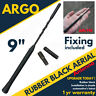 Black Rubber Roof Mount Car Van Aerial Antenna Mast Ariel Whip Wing Radio Stereo