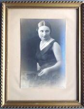 BLANC et DEMILLY Portrait autographe Martha MAYO actress Tirage ancien 1929