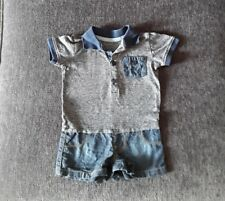 Baby boy summer outfit. All in one. 3 to 6 months. Romper.