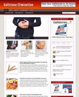 GALLSTONE ADVICE WEBSITE WITH UK AFFILIATE STORE & BANNERS + FREE DOMAIN