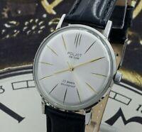 Poljot De Luxe ULTRA SLIM Dress Men's Mechanical WristWatch Vintage USSR Style