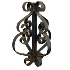 Vintage Ornate Wrought Iron Architectural Salvage Piece Finial Coupling