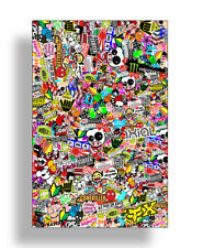 RC Graffiti Sticker Bomb Wrap Drift Body Decals Kit Crawler 1:10 1/10 Car Truck