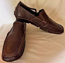 CALVIN KLEIN MULLY MEN'S BROWN NAPPA LEATHER MOC DRIVING SHOES ($100) - 9.5M