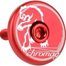Chromag Anodised Alloy Top Cap Mountain Bike MTB Red Headset Topcap