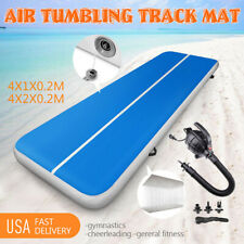 Us 13Ft 4M Airtrack Inflatable Air Track Floor Home Gymnastics Tumbling Mat Gym*