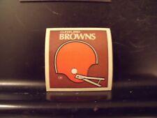 1977 NFL Football Helmet Sticker Decal Cleveland Browns Sunbeam Bread