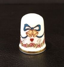 Rare VTG Caverswall Collectible Thimble Charles & Diana Wedding Bells & Crown