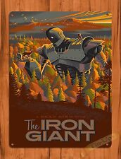 Tin Sign The Iron Giant Warner Brothers Art Painting Movie Poster