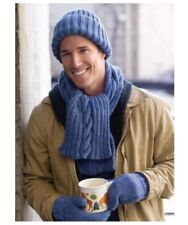 KNITTING PATTERN FOR MEN'S HAT & SCARF & MITTENS