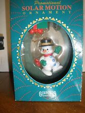 Snowman Hanging Wreath Christmas Traditions Matrix 2pc Solar Motion Ornament