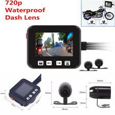 2'Hd 720P Motorcycle MotorBike Action Dual Lens Camera Dvr Dash Video Recorder