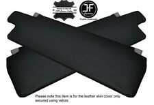 BLACK STITCHING 2X SUN VISORS LEATHER COVERS FITS LDV CONVOY