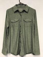 Eddie Bauer Travex Women's LS Infinity Button Down Shirt Size M Evergreen