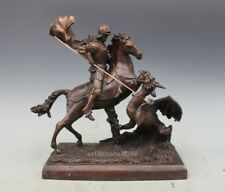 Western Art Deco sculpture Saint George and the Dragon bronze statue