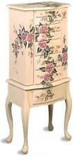 'Hand Painted Off White Floral Motif Jewelry Storage Armoire by Coaster 4021' from the web at 'https://i.ebayimg.com/thumbs/images/g/CPwAAOSwcu5USBBr/s-l225.jpg'