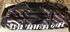 New listing Warrior Black Hole S1 Lacrosse Bag Brown White Stick Pocket Shoe Bag Gear Vented