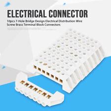 10X 7-Hole Bridge Design Electrical Wire Screw Brass Terminal Block Connectors G