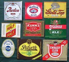 Assorted Breweries antique Beer Bottle Labels Lot of 15