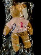 Avon Breast Cancer Crusade Bear Plush Pink Ribbon 2001 7 Inch New A2
