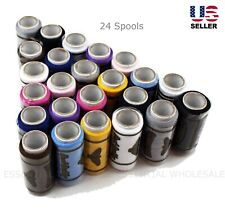 Lot 24 Spools Sewing Thread Polyester Assorted Colors Best Quality All Purpose