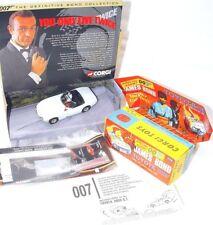Corgi Toys 007 TOYOTA 2000 GT + JAMES BOND & AKI Figure + Repro Box 65102 MIB`01