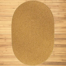 Rhody Rug S036R024X048 Solid Oval 2x4 Rug New Gold