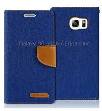 Denim Material Slim Flip Leather Wallet Case Cover for iPhone Galaxy S8 Note LG